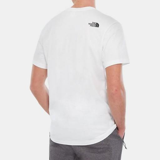 THE NORTH FACE Camiseta M S/S Fine Tee White TNF Black [3]