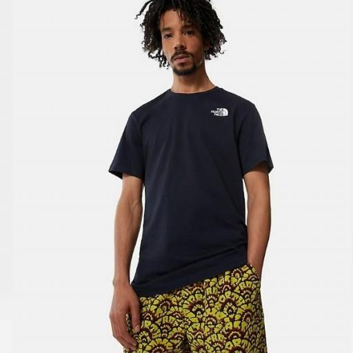 THE NORTH FACE Camiseta SS Red Box Aviator Navy Citronelle Green Ashbury Floral Print [2]