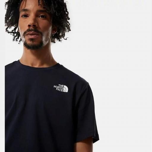 THE NORTH FACE Camiseta SS Red Box Aviator Navy Citronelle Green Ashbury Floral Print [3]