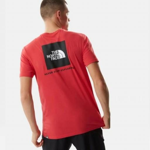 THE NORTH FACE Camiseta SS Red Box Rococco Red
