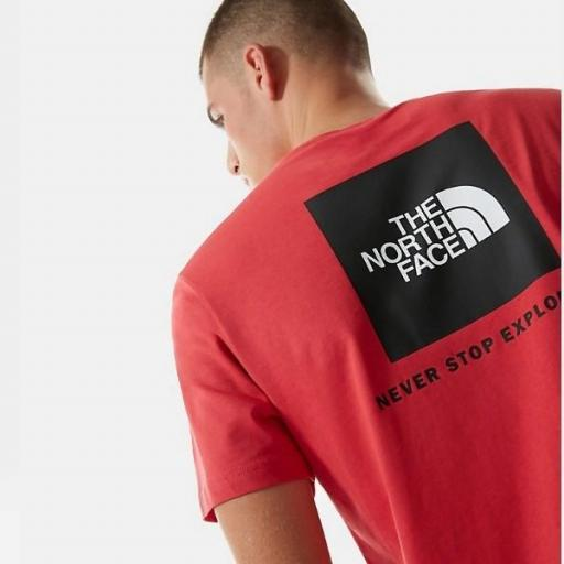 THE NORTH FACE Camiseta SS Red Box Rococco Red [2]