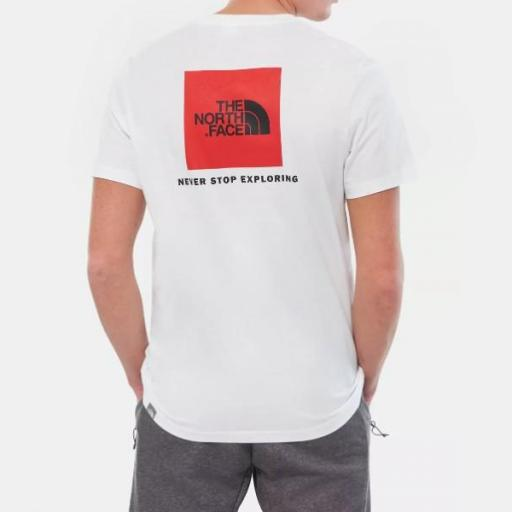 THE NORTH FACE Camiseta SS Red Box White