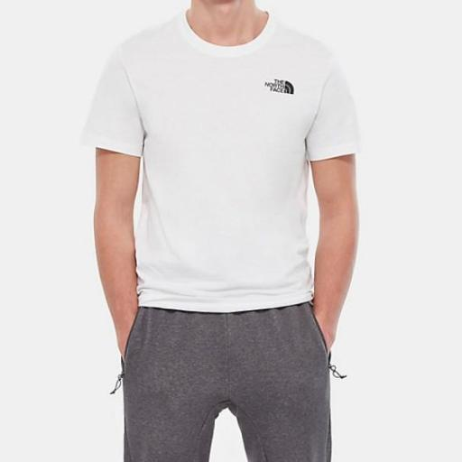 THE NORTH FACE Camiseta SS Red Box White [1]