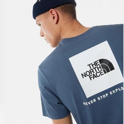 THE NORTH FACE Camiseta SS Red Box Vintage Indigo [3]