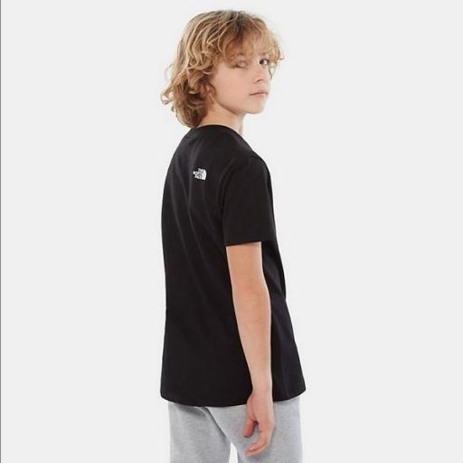THE NORTH FACE Camiseta niño Easy Black White [2]