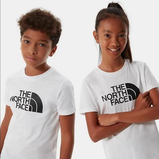 THE NORTH FACE Camiseta niño Easy White Black