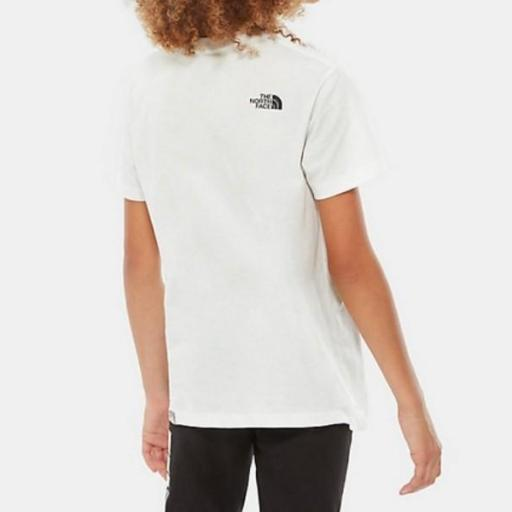 THE NORTH FACE Camiseta niño Easy White Black [1]