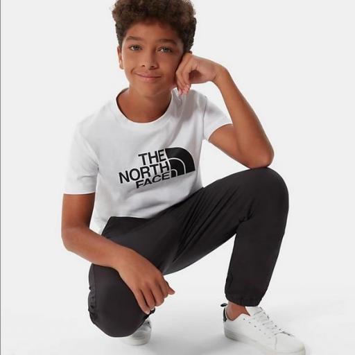THE NORTH FACE Camiseta niño Easy White Black [0]