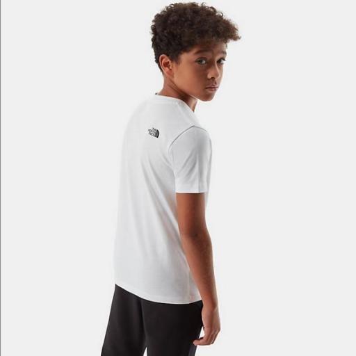 THE NORTH FACE Camiseta niño Easy White Black [3]