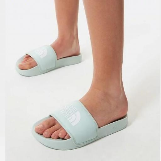 THE NORTH FACE Chancla Base Camp Slide III Misty Jade TNF White [1]