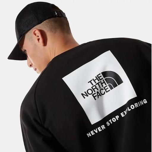 THE NORTH FACE Sudadera M Raglan Redbox Crew New TNF Black TNF White [3]