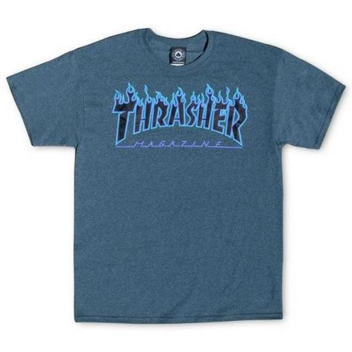 THRASHER Camiseta Flame Dark Heather Grey