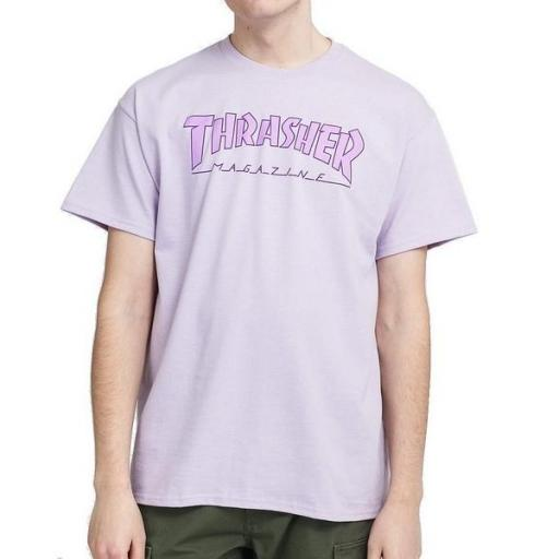 THRASHER Camiseta Outlined Orchid