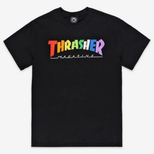 THRASHER Camiseta Rainbow Mag Black