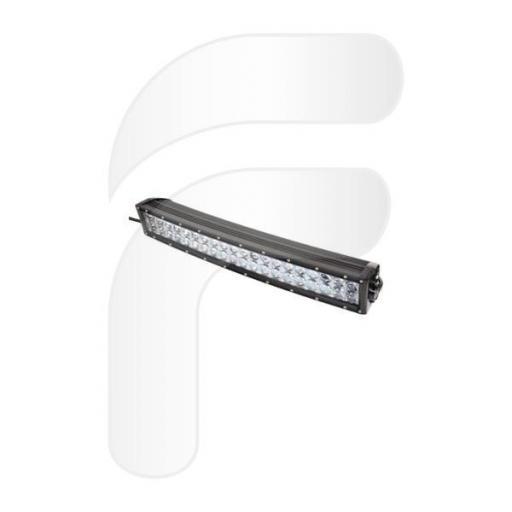 Puente de trabajo curvo LED 9/32 V con 120W, 40 LED x 3W. Medidas 563 x 86 x 111 mm.