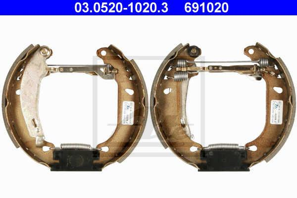 Kit frenos, disco de tambor ATE : 691020