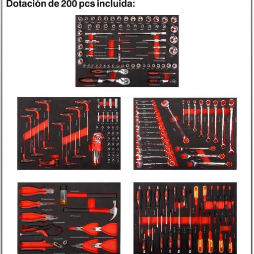 TC 7002 Carro de herramientas 7 cajones