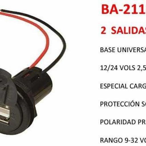 BASE UNIVERSAL 2 USB CON TAPA