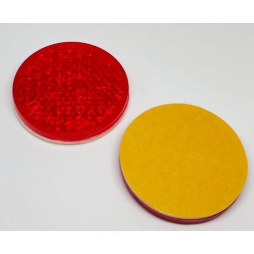 Captafaros adhesivo rojo redondo