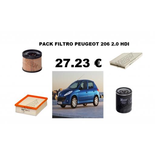 PACK FILTROS PEUGEOT  206 2.0 HDI
