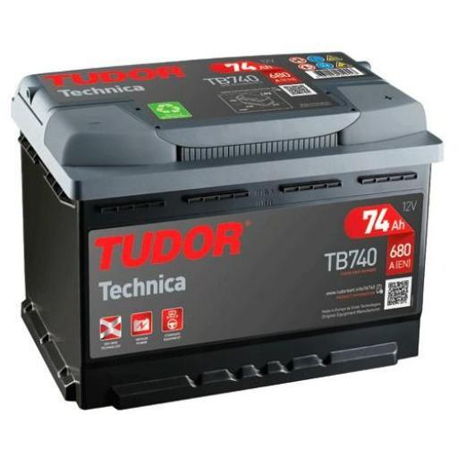 BATERIA TUDOR TECHNICA 74AH +DER TB740