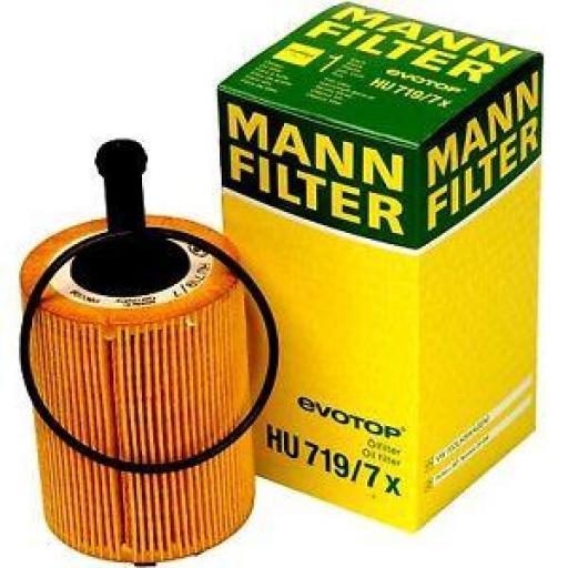 Filtro de aceite MANN-FILTER : HU 719/7 x - LOTE 10 UNIDADES