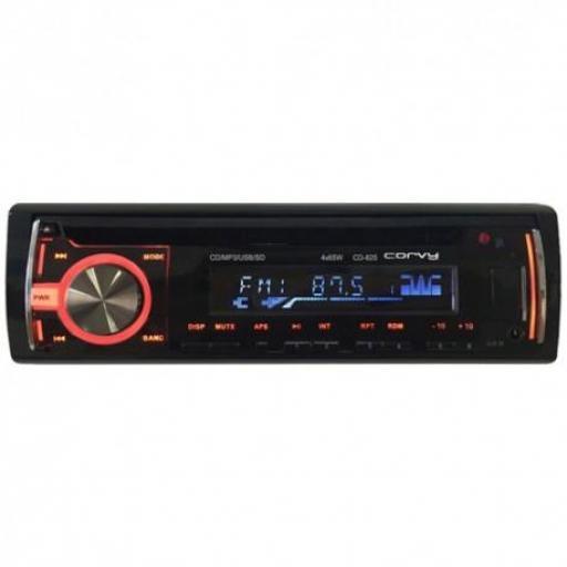 Radio cd , usb , sd , Corvy CD 825 , aux , mando a distancia .