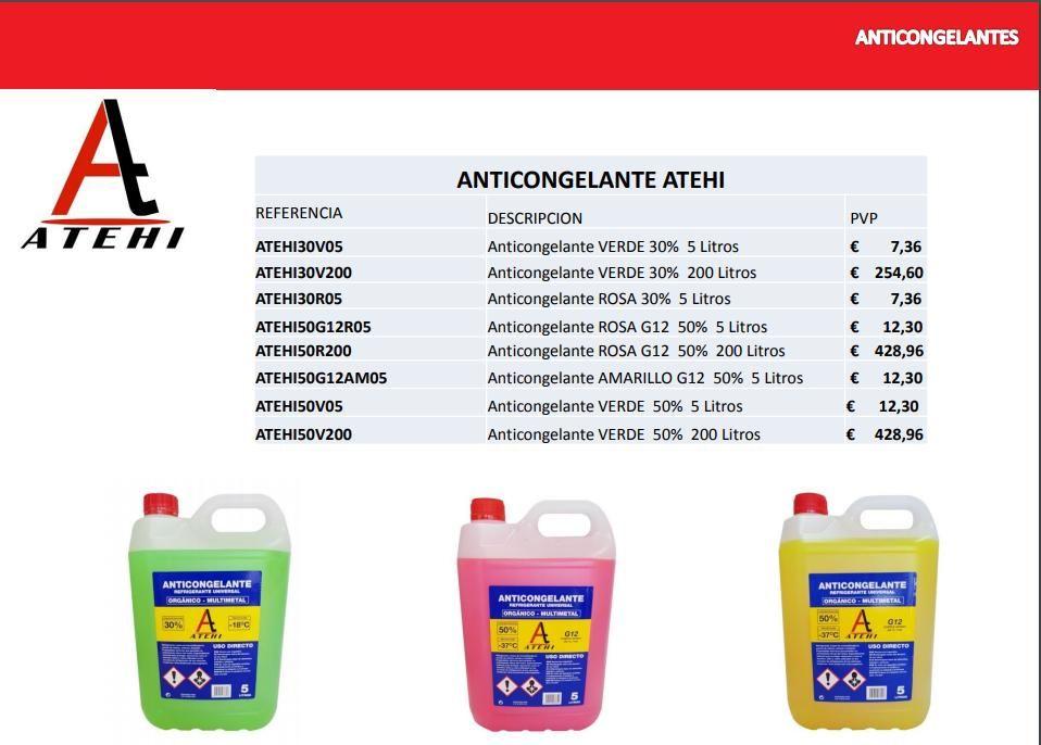 ANTICONGELANTES DESCUENTO 40%