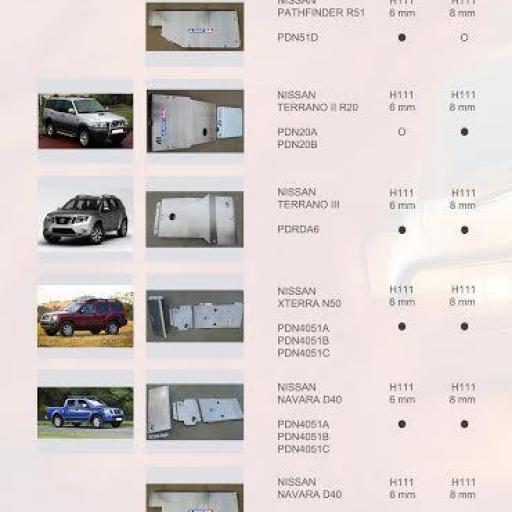 PROTECCIONES PATHFINDER R51/NAVARA D40(ALMONT4WD)