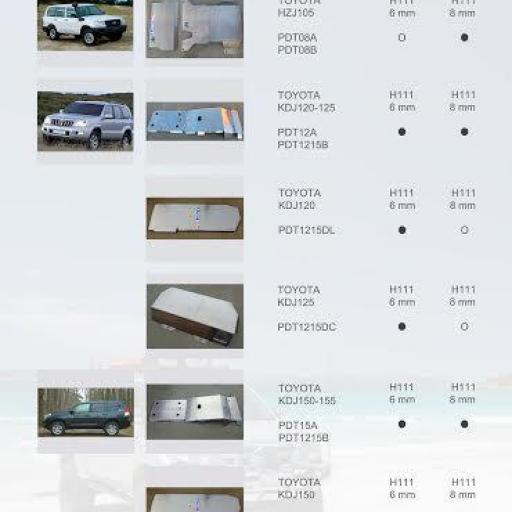 PROTECCIONES TOYOTA J12 SERIES (ALMONT4WD)