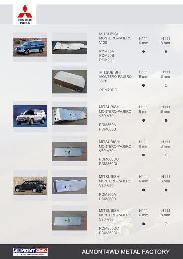 PROTECCIONES MONTERO/PAJERO III V60 (99/02)(ALMONT4WD)