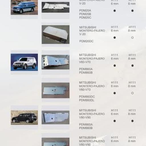 PROTECCIONES MONTERO/PAJERO IV V80 (07/--)(ALMONT4WD)