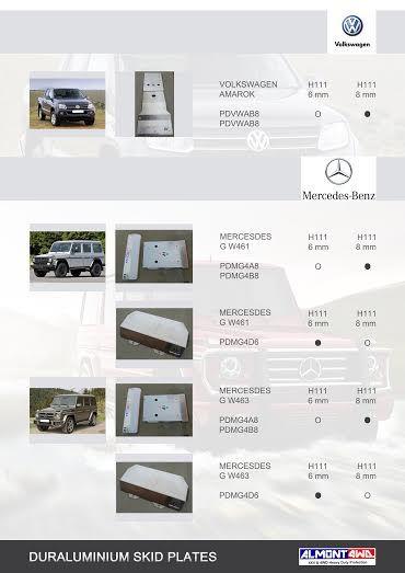 PROTECCIONES MERCEDES G W461/W463 (ALMONT4WD)