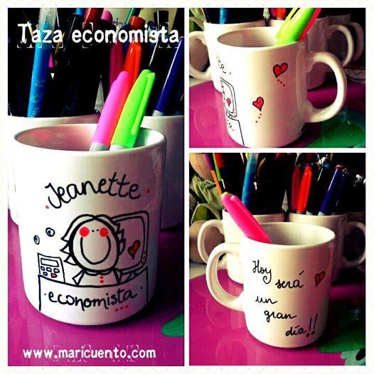 """Taza """"Economista"""""""