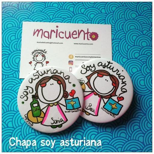 Chapa Soy asturiana