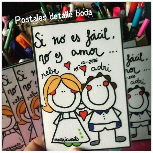 """Postal """"Si no es fácil no es amor"""" [0]"""