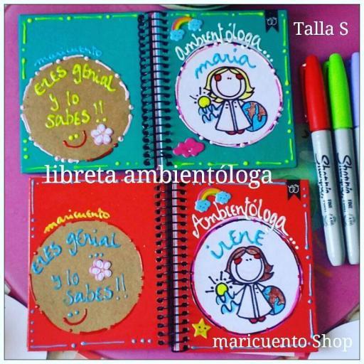 Libreta Ambientóloga. Talla S