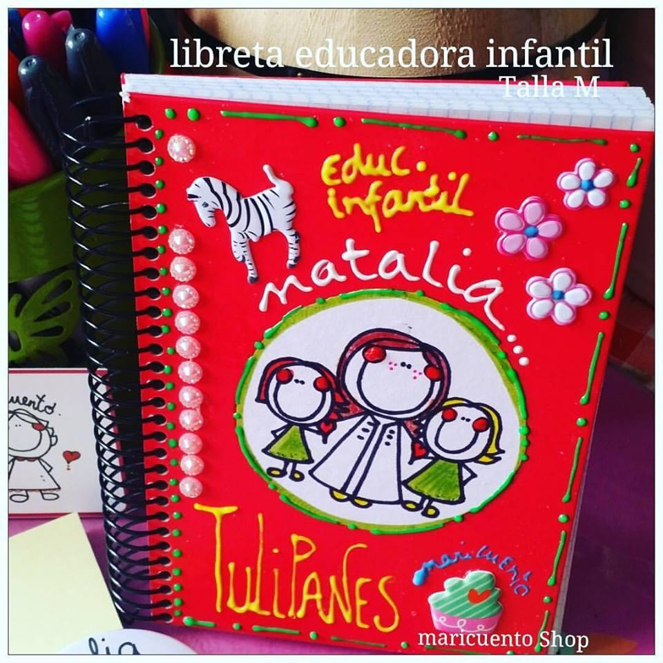Libreta Educadora Infantil. Talla M.