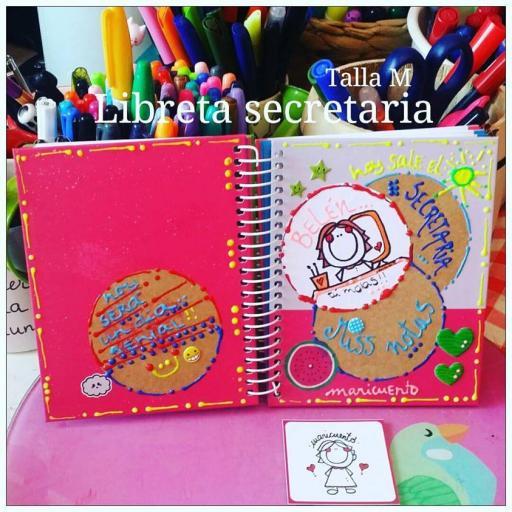 Libreta Secretaria. Talla M.