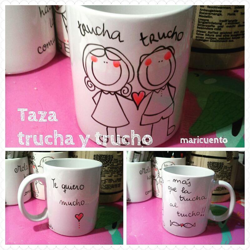 Taza Trucha y Trucho