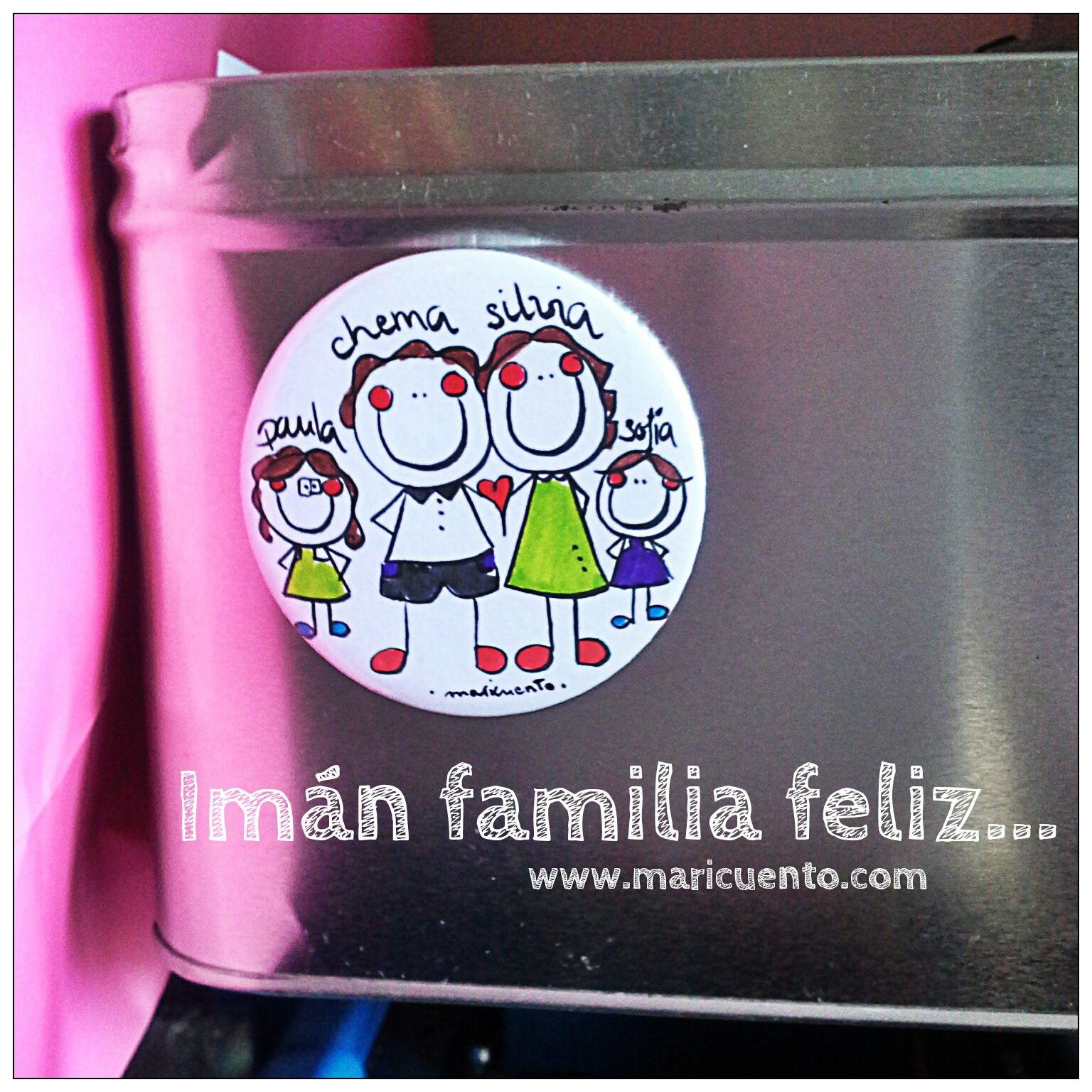 Imán o Chapa Familia Feliz