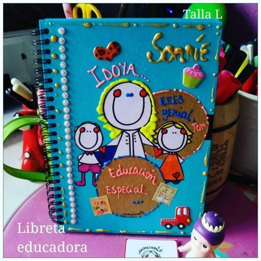 Libreta Educación especial. Talla L.