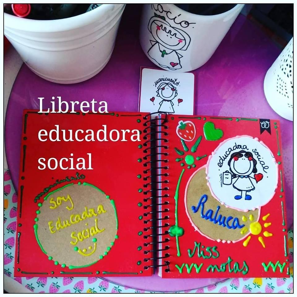 Libreta educadora social. Talla M.