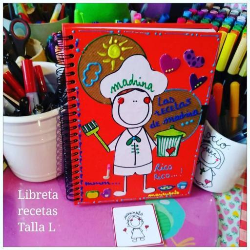 Libreta Recetas. Talla L