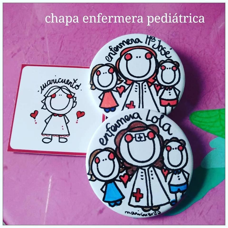 Chapa enfermera pediátrica