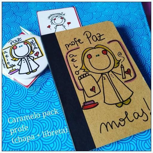 """Caramelo pack """"Libretina+chapa"""""""