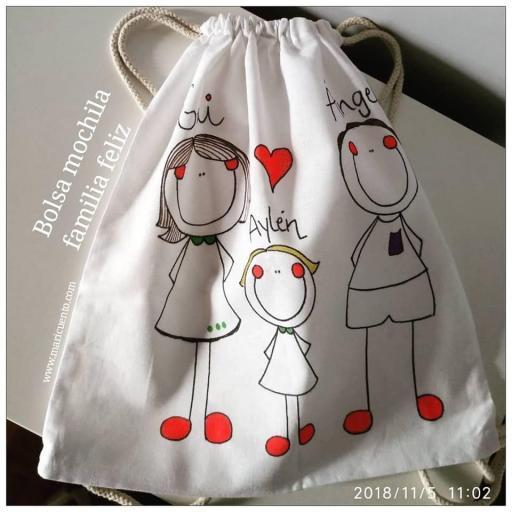 Bolsa mochila Familia Feliz [1]