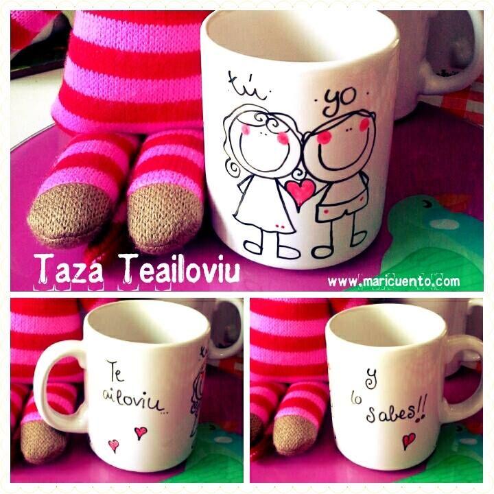 "Taza ""Te ailoviu y lo sabes"""