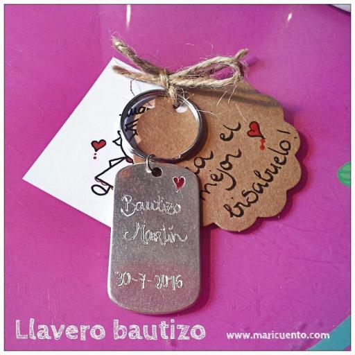 Llavero Bautizo