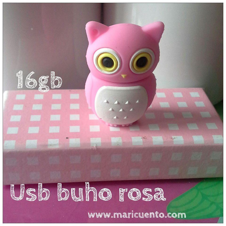 Usb Buho rosa